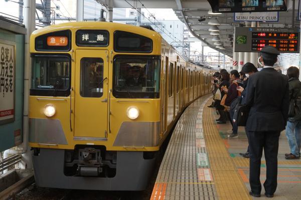 2016-02-04 西武2523F+2051F 急行拝島行き 2351レ