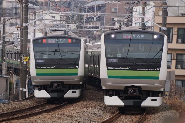 2016-02-06 横浜線E233系クラH014編成 クラH009編成