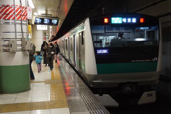 2016-02-10 埼京線E233系ハエ109編成 各駅停車新宿行き
