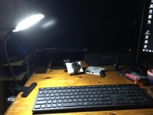 ELECOM LEDクリップライト USB対応 ACアダプタ付 CHUU(チュー) ブラック LEC-USBC01CBK