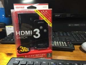 iBUFFALO HDMI切替器 3台用 リモコン付