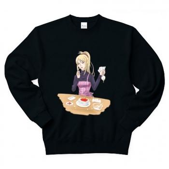 クリスマスケーキを準備中のリサ Tシャツ