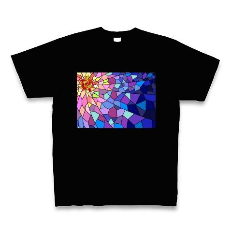太陽と宇宙・ステンドグラス風 Tシャツ