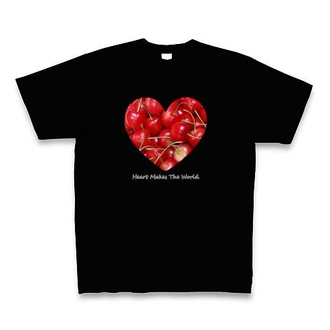 チェリー(さくらんぼ)ハート Tシャツ