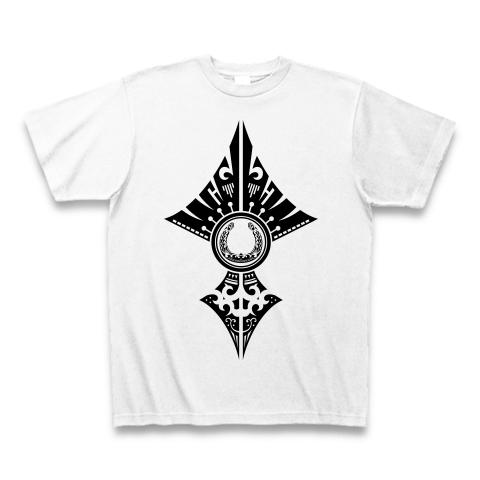 蹄鉄トライバル デザイン02-black- Tシャツ