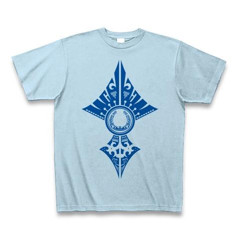 蹄鉄トライバル デザイン02-Blue- Tシャツ
