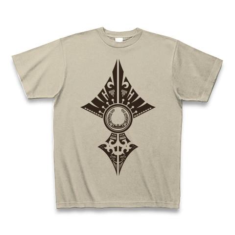 蹄鉄トライバル デザイン02-Brown- Tシャツ