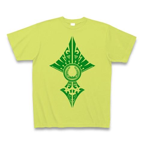 蹄鉄トライバル デザイン02-Green- Tシャツ