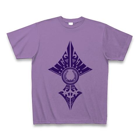 蹄鉄トライバル デザイン02-Purple- Tシャツ