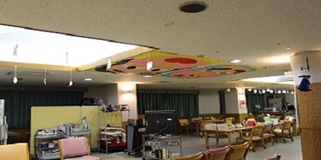 東京都 足立区 老人保健施設 千寿の郷 通所リハビリ 入所 フロアの様子 新年 おもち