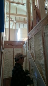 階段・建具枠設置