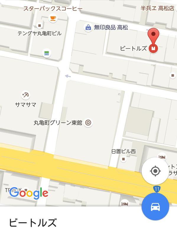 ビートルズ地図