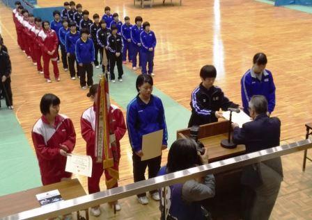 東北選抜表彰式