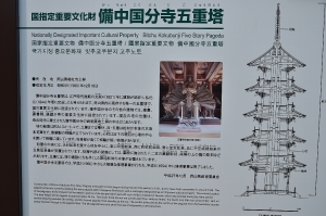 五重の塔案内板