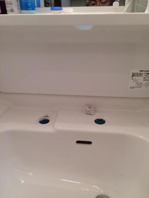 洗面所水栓取替 (2)