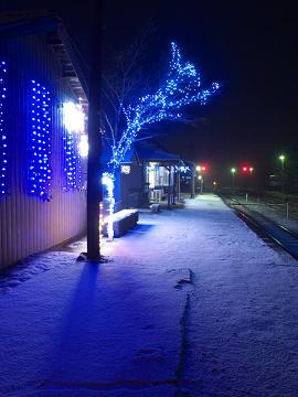 P161171883_足尾イルミ夜雪