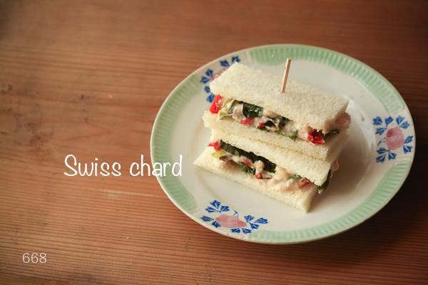 Swiss chardサンド