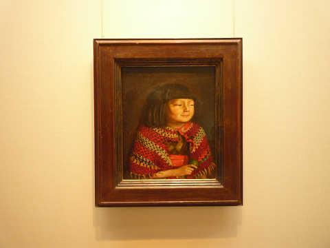岸田劉生 麗子微笑 国立博物館 重要文化財