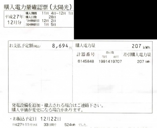 20160119004_2015年11月の売電額