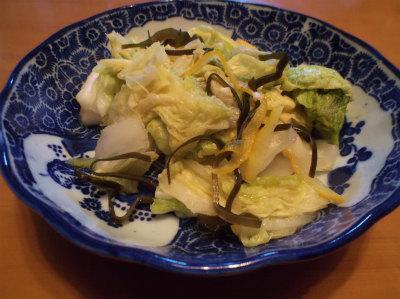 12.10自家製の白菜漬け