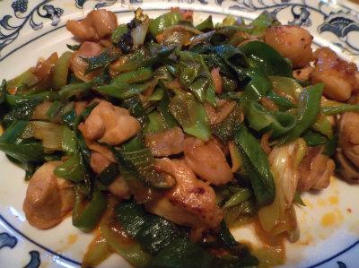 12.29ネギと鶏肉のコチジャン炒め
