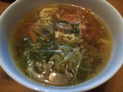 12.29水菜の中華スープ