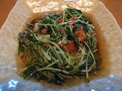 1.11水菜の鯖缶煮