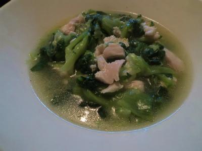 2.16青梗菜と鶏の煮浸し