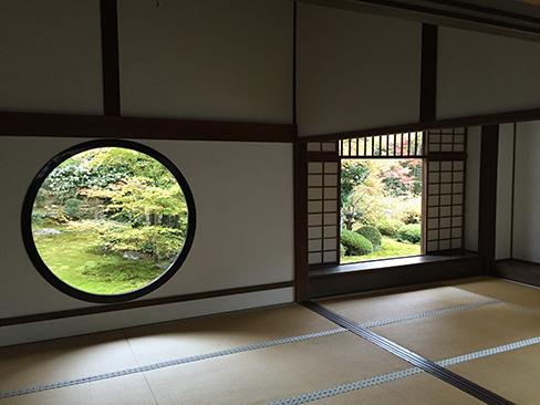 源光庵・悟りの窓、迷いの窓_H27.11.23撮影