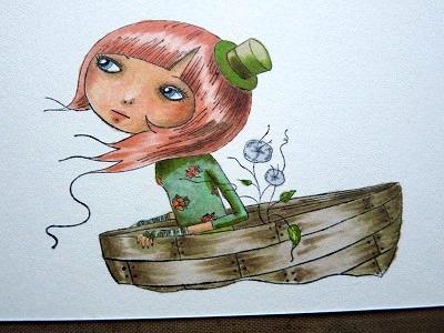 Santoro Mirabelle Character Stamp- Adrift