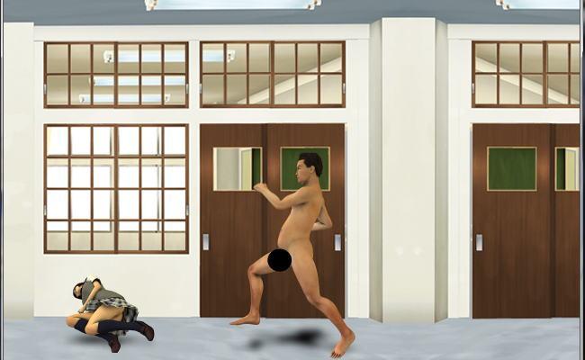 全裸走り2