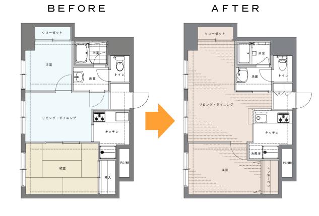 S様邸 既存・改装図