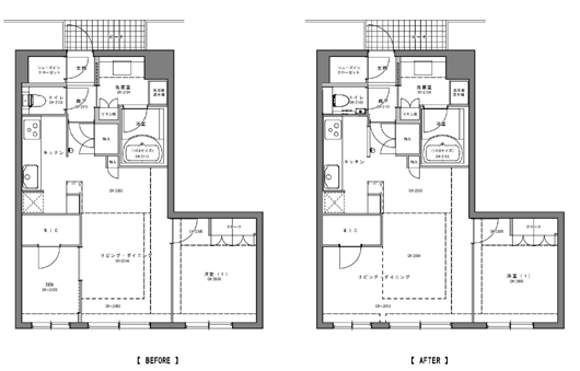 西区A様邸 既存・改装図