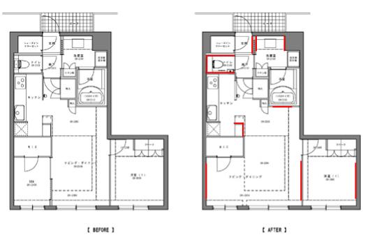 西区A様邸 既存・改装図2