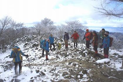 10標高800mくらいの新雪の様子