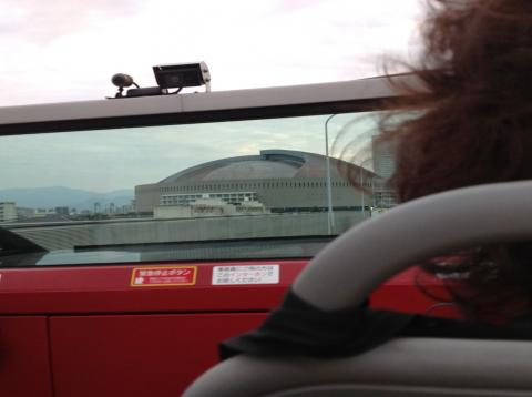 オープントップバスより福岡ドーム