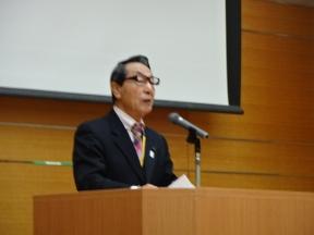 県公連会長として開会の挨拶も