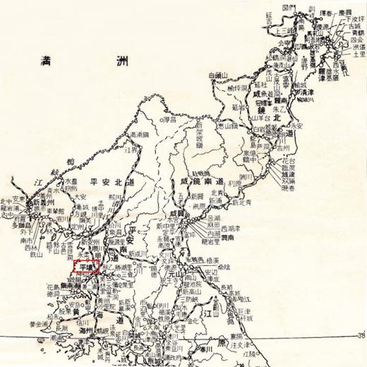 北朝鮮地図5平壌