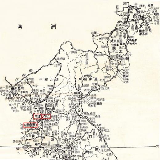 北朝鮮地図9平壌秋乙