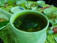 丸鶏スープ160122