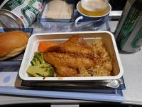 CI116福岡行き機内食160130