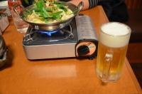 もつ鍋に生ビール160130