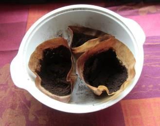 コーヒー滓の乾燥1