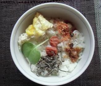 色野菜と朝ご飯