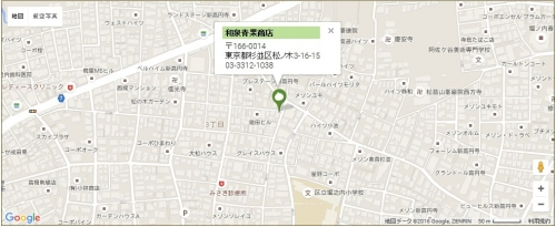 和泉青果商店_地図