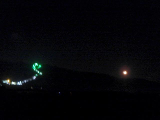 20160115夜の富士見パノラマと月 (4)