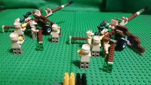 陣地で砲撃準備中の88式