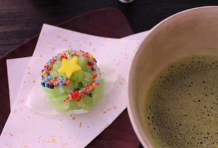 Xmas和菓子&お抹茶