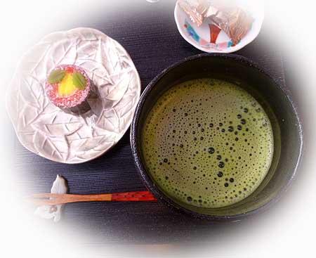 お抹茶ティ-タイム