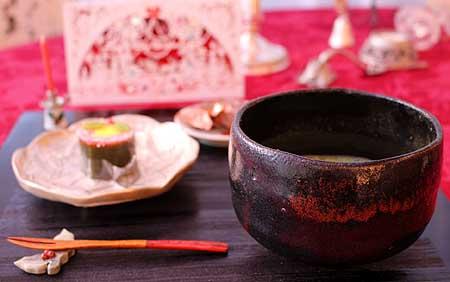 和菓子Xmasリ-ス &お抹茶